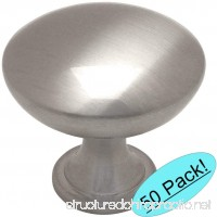 "Cosmas 5305SN Satin Nickel Traditional Round Solid Cabinet Hardware Knob - 1-1/4"" Diameter - 50 Pack - B01BTAVG02"