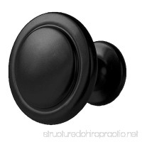 Flat Black Kitchen Cabinet Knobs - 1 1/4 inch Round Drawer Handles - 25 Pack of Kitchen Cabinet Hardware - B0716Q1CV3