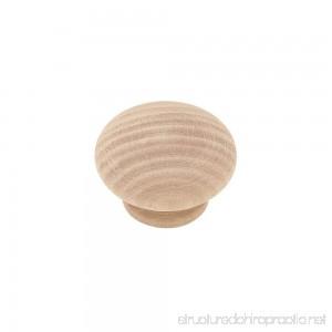 Liberty P10513M-BIR-U1 1-1/2 Wood Round Kitchen Cabinet Hardware Knob 10 Pack - B006HZ2LLI