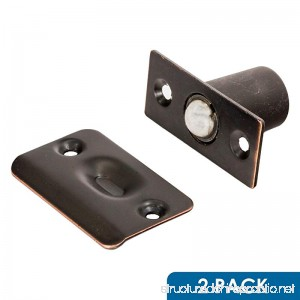 2 Pack Rok Hardware Oil Rubbed Bronze Adjustable Large Closet Cabinet Ball Catch Latch With Radius Corners And Strike - B071ZWWQ9B