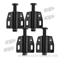 4 Pieces Black Magnetic Push to Open System Magnetic Latch Cabinet Cupboard Drawer US - B07BFC54QZ