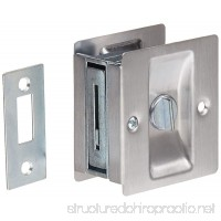 "Rockwood 891.26D Brass Pocket Door Privacy Latch  2-1/2"" Width x 2-3/4"" Height  Satin Chrome Plated Finish - B00CYSL24O"