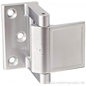 Rockwood PDL.15 Zinc Die Cast Privacy Door Latch 1-1/2 Width x 2-13/64 Length Satin Nickel Plated Clear Coated Finish - B00CYSHXFG