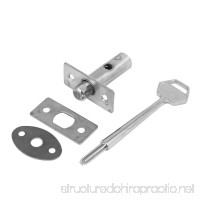 uxcell Fire Door Metal Hidden Manager Tubewell Mortise Lock Silver Tone w Key - B01N928BM1