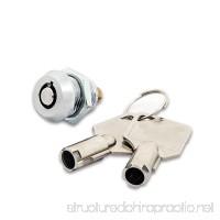 FJM Security 2615B-KA Miniature Tubular Push Locks with Chrome Finish  Keyed Alike - B005GUQJYU