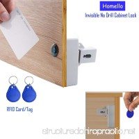 Homello RFID Electronic Cabinet Lock Hidden DIY for Drawer Cabinet Locker - B07CV93FJS