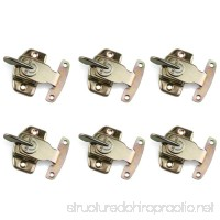 Table Locks  URBEST 6PCS Iron Brass Plated Dining Table Buckles Connectors Table Abalone Fasteners Hardware Accessories - B07DQHDJPZ