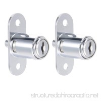 uxcell Push Plunger Lock  3/4-inch(19mm) Cylinder Diameter  Zinc Alloy Chrome Finish  Keyed Alike - B07BXFR6T6