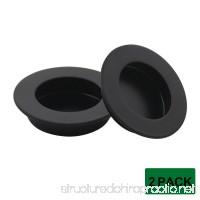Probrico 2Pcs Round Flush Door Pulls #304 Stainless Steel Handles 65mm/2.5 Inch Diameter - B074MXXXGV