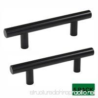 Probrico Flat Black 3 inch Center-to-Center Bar Cabinet Pull Modern Cabinet Hardware Kitchen Cabinet T Bar Handle Dresser Knobs Set 5 Pack - B01I50IWYM