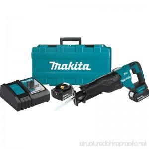 Makita XRJ05T 18V LXT Lithium-Ion Brushless Cordless Recipro Saw Kit (5.0Ah) - B0733P3HT6