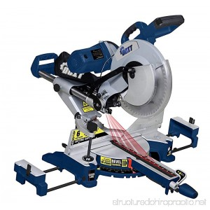 Ainfox 12-Inch Sliding Compound Miter Saw 15 Amp Dual Bevel with Laser and LED Work Light - B01HHUKX8E