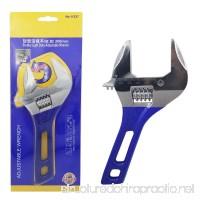 Sackorange Adjustable Vanadium Alloy Wrench 8-Inch 0-44mm Adjustable Spanner Short Shank Large Opening Ultra-Thin - B07CZYGM5V